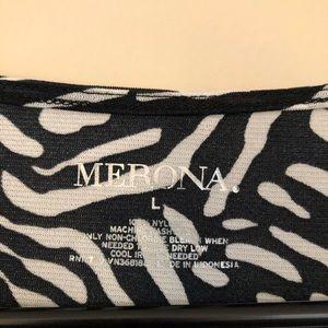 Merona Tops - 🍁Merona Black & White Print Top *NWT